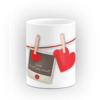"""Чаша """"Love is all you need"""" - подарък за Свети Валентин"""