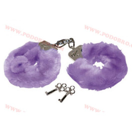 Секси белезници с пухчета лилави