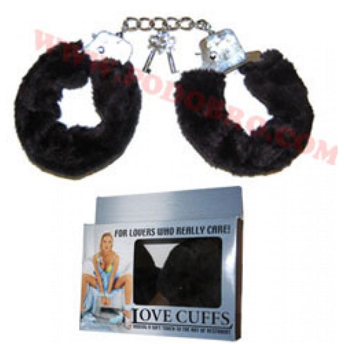 Секси белезници с пухчета черни