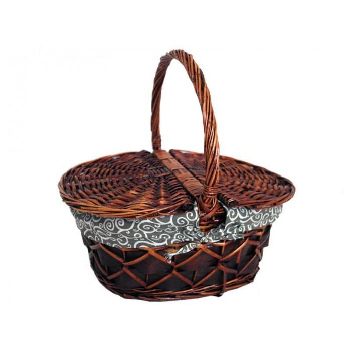 Кошница за пикник/излет - плетена