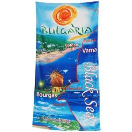 Сувенирна плажна хавлия със снимки от българското черноморие 2