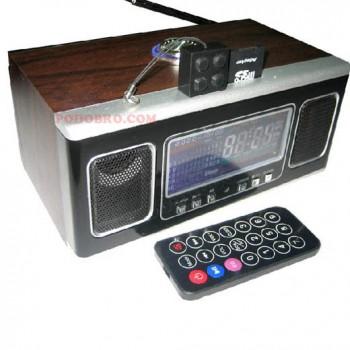Мултифункционално преносимо радио с USB, четец за карти и дистанционно