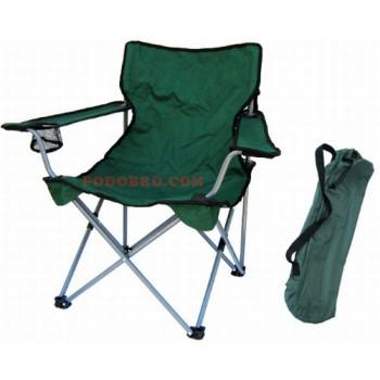 Туристически стол с облегалка, подлакътник и поставка за чаша сгъваем