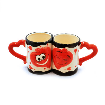 Комплект чаши за влюбени - подарък за Деня на влюбените