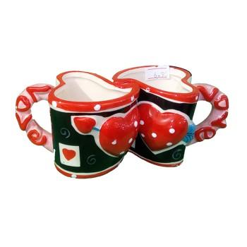 Комплект чаши за влюбени - подходящи за кафемашина