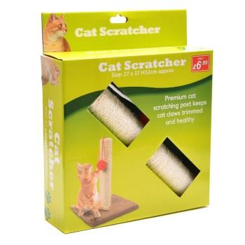 Забавен подарък за Вашата котка - играчка с чесалка