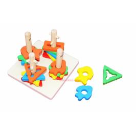 Дървена образователна играчка с фигурки