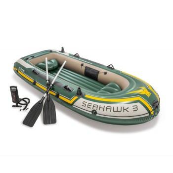 Голяма туристическа надуваема лодка с гребла