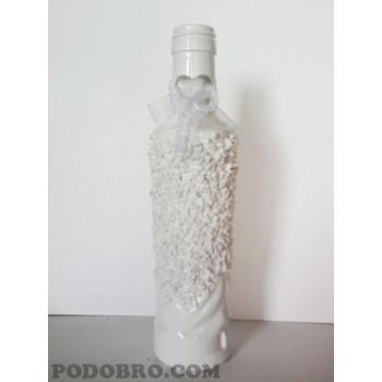 """Декоративно шише """" Бяла въздишка"""" на цена от 15 лв"""
