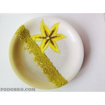"Декоративна чиния "" Жълта лилия"""