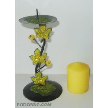 """Сувенир свещник """"Есен"""" – Жълто цена 15.00 лв."""
