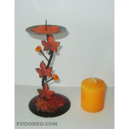 """Свещник """"Есен"""" – Оранжево на цена 15.00лв"""