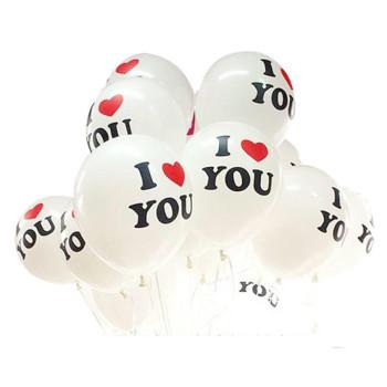 Бял балон с надпис I love you