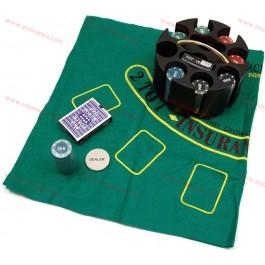 Въртящ се покер комплект с 200 чипа на промоция