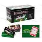 Покер комплект с 200 чипа и покривка за Blackjack
