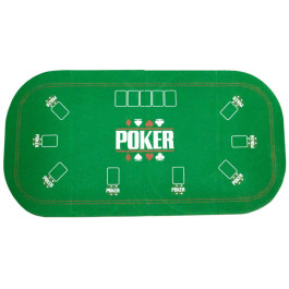 Покривка за игра на покер в зелен цвят