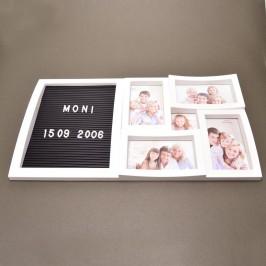 Рамка за 5 снимки с табло за надпис