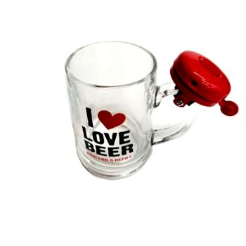 Халба за бира със звънец