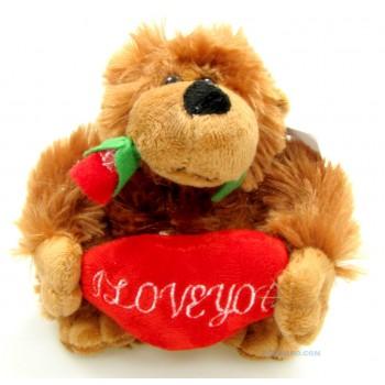 """Музикална маймунка с цвете и надпис """"I LOVE YOU"""""""