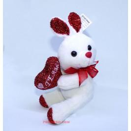 Плюшено зайче със сърце - Обичам те
