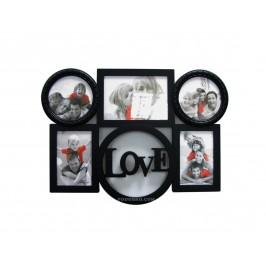 """Фоторамка-колаж за 5 снимки с надпис """"LOVE"""" - подарък за Свети Валентин"""
