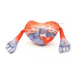 Забавен подарък за Свети Валентин сърце с ръчички