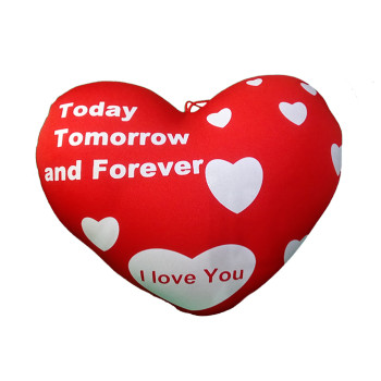 Сърце с надпис TODAY TOMOROW AND FOREVER - I love you - голямо