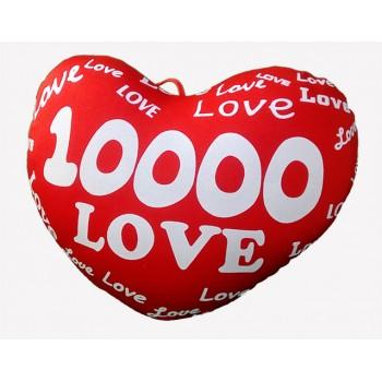 Сърце с надпис 10 000 LOVE - голямо