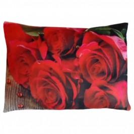 Плюшена възглавница с рози