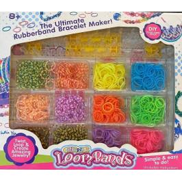 Кутия с ластици за плетене на гривни
