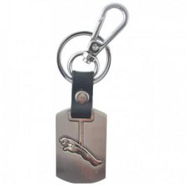 Стилен автомобилен ключодържател със сребриста пластина - Jaguar