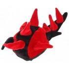 Двуцветна карнавална шапка - динозавър от нежно кадифе