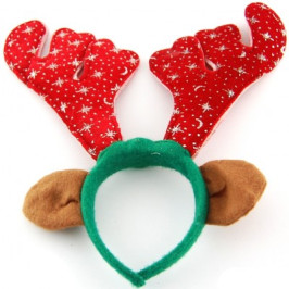 Коледна диадема еленови рога и ушички