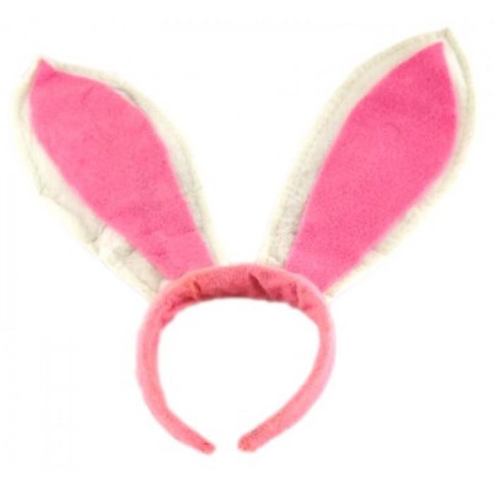 Карнавална диадема - заешки уши от мек полар