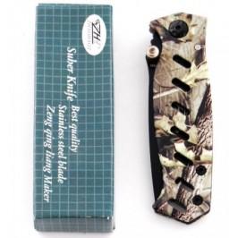 Сгъваем ловен нож с камуфлажна дръжка