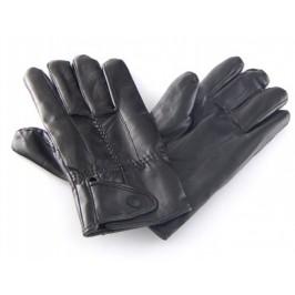 Ръкавици с пет пръста - еко кожа с декоративно закопчаване