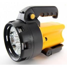 Акумулаторен фенер с 8 диода, удобна въртяща ръкохватка, бутон за блокиране в положение