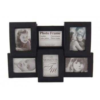 Малка мултирамка за 6 снимки, изработена от PVC материал и фронт стъкло