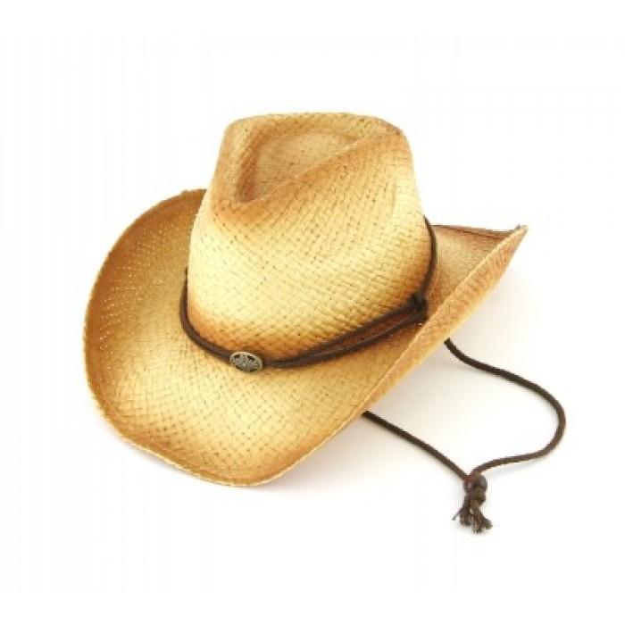 Лятна дамска плетена шапка с регулиращи връзки
