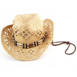 Лятна плетена дамска шапка с регулиращи връзки