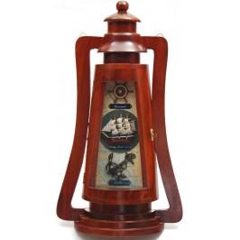 Сувенирна дървена кутия за ключове - фенер за стена с морски мотиви
