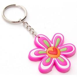Сувенирен цветен ключодържател - цвете - 5см
