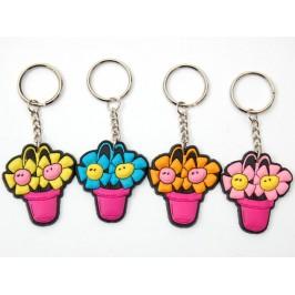 Сувенирен гумен ключодържател - цвете в саксия