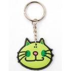 Сувенирен гумен ключодържател - глава на котка