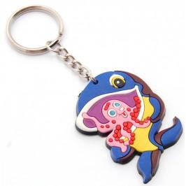 Сувенирен цветен ключодържател - риба - 5см