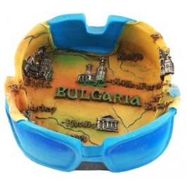 Сувенирен керамичен пепелник - карта България