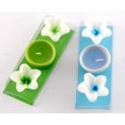 Комплект от две ароматни свещи с форма цвете - 5х3см