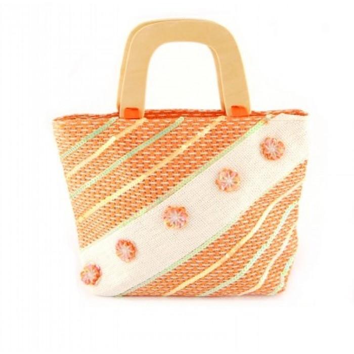 Плетена лятна чанта - 26х33см