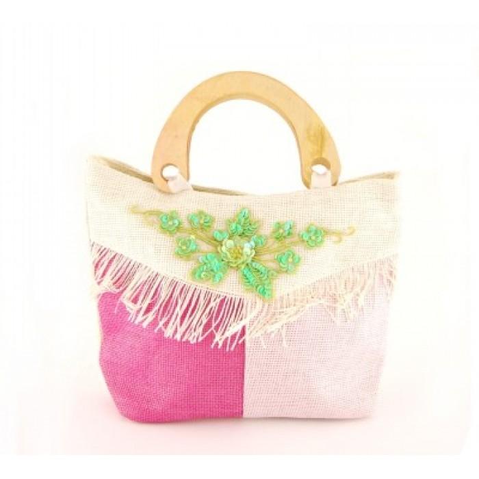 Плетена лятна чанта - 24х32см
