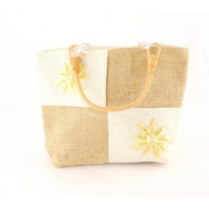 Плетена лятна чанта - 25х33см
